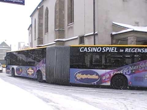 city bus traffic in Regensburg, Germany