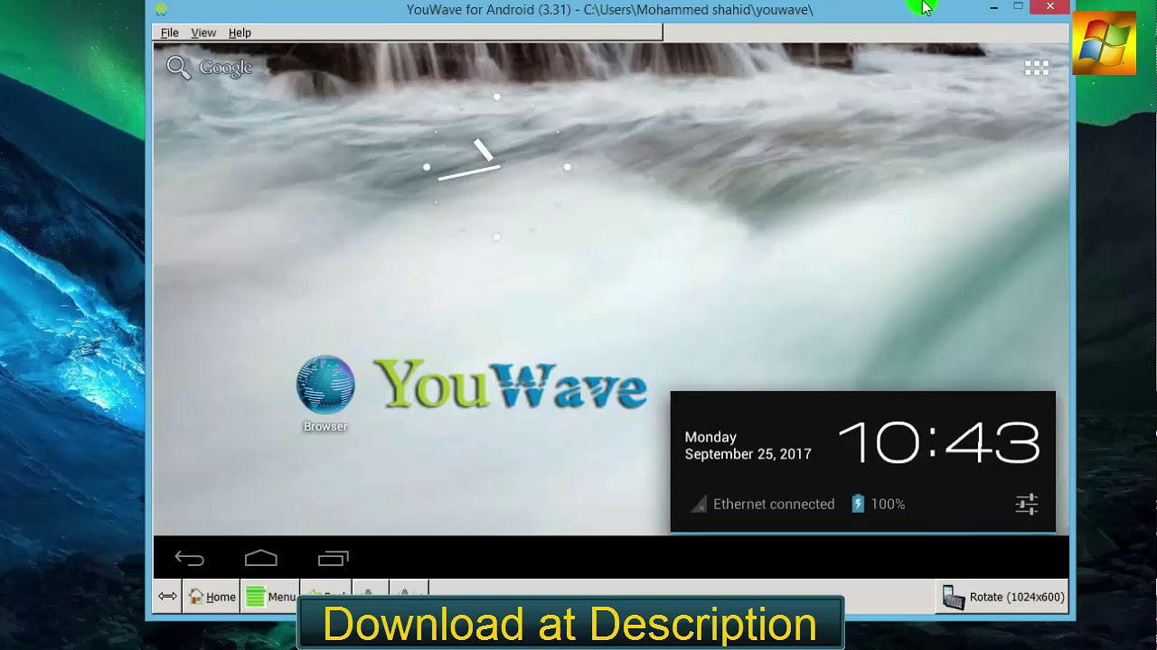 Download YouWave Android Emulator - Android Emulator