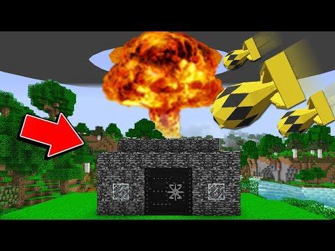 Minecraft: CASA DE BEDROCK VS BOMBA ATÔMICA! QUEM VENCE?