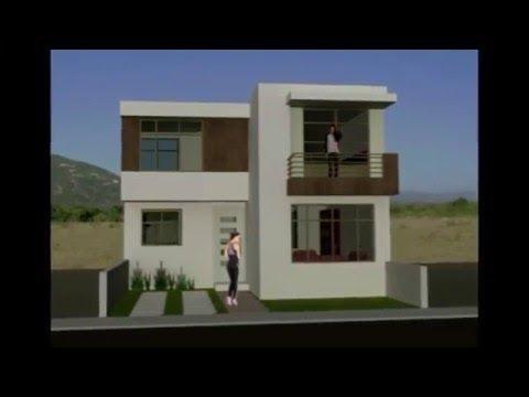 Planos de casas de dos plantas con medidas y fachadas - Casas de dos plantas sencillas ...