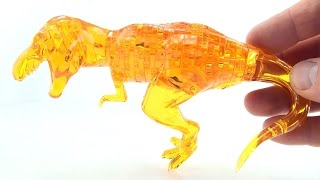 Crystal Amber Tyrannosaurus Rex 3D Jigsaw puzzle - T-Rex Dino Toy Puzzle - Dinosaur speed Build