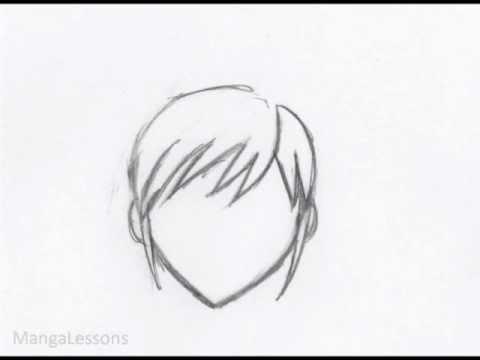 drawing manga hair female bangs