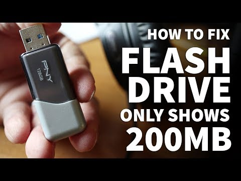 Flash Drive Only Shows 200MB Space Available – Fix 128GB USB Flash Drives Seen As 200MB