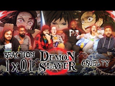 Demon Slayer - 1x1 Cruelty - Group Reaction