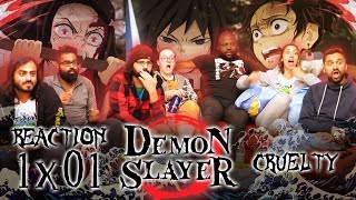 Demon Slayer - 1x1 Cruelty - Group Reaction