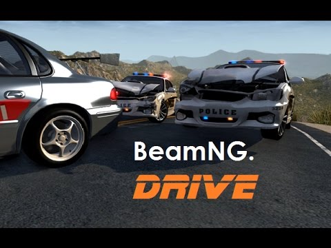 BeamNG. Drive - Police Chases & Crashes [+ External Camera]