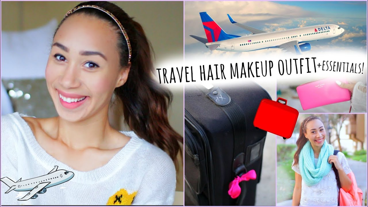Airplane Travel Hair Makeup Outfit What To Pack In Your Carry On
