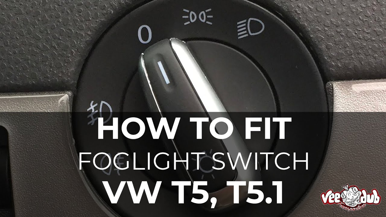 maxresdefault how to fit t5 t5 1 foglight switch youtube vw t5 fog light wiring diagram at gsmx.co