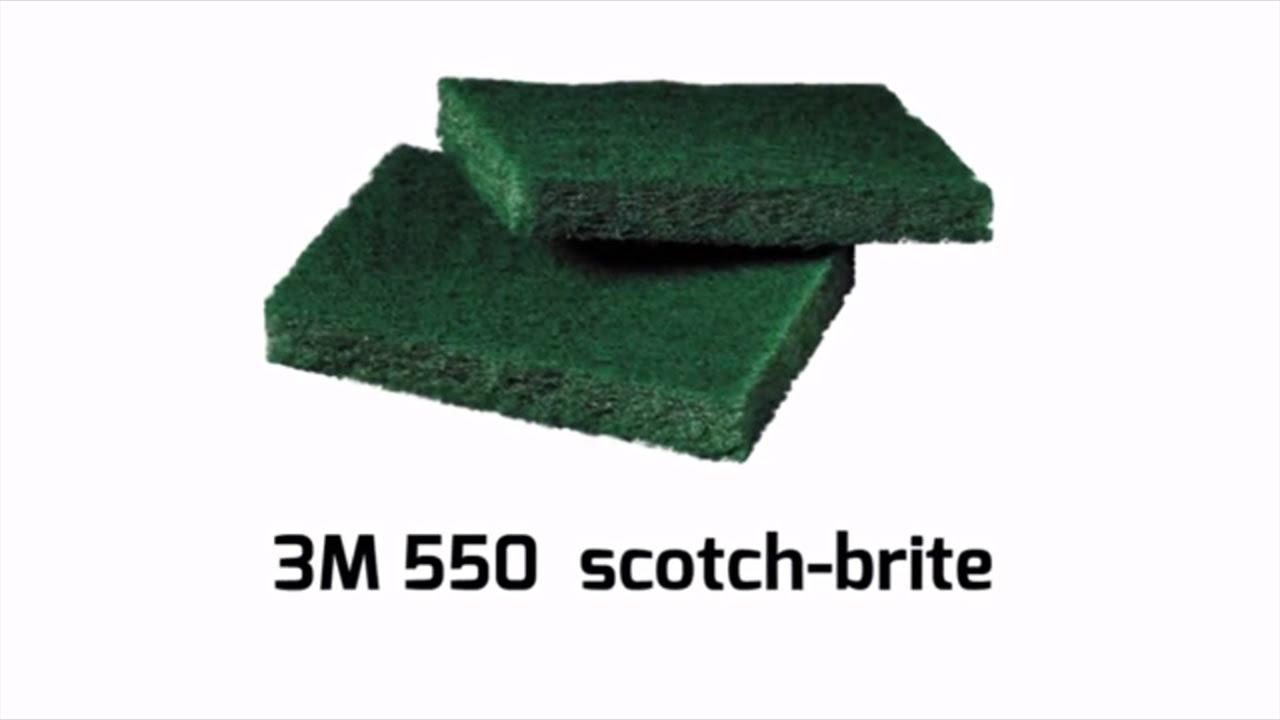 3M 550 Scotch-Brite | ALDERO industrial supplies - YouTube