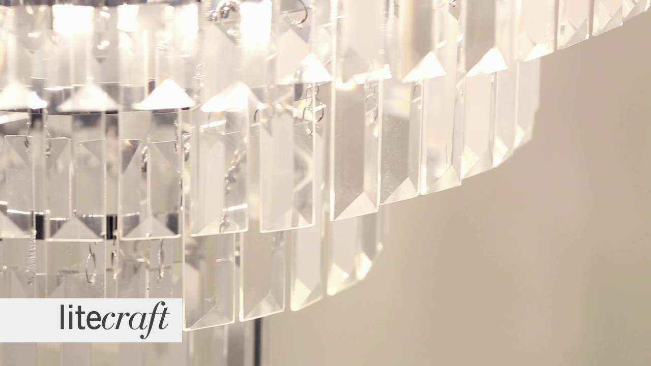 Prism 5 Light Crystal Flush Light - Chrome and Glass   Litecraft ...