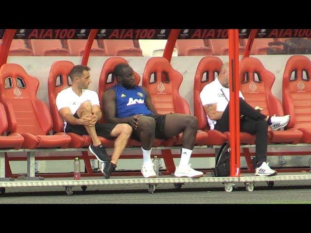 Manchester United Train In Singapore - Romelu Lukaku Sits Out