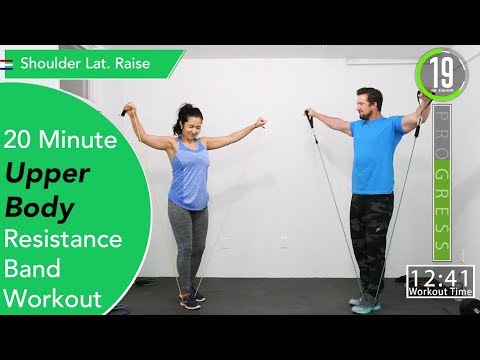 20 Minute Upper Body Resistance Band Home Workout