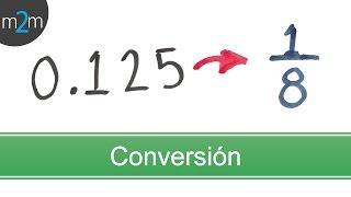 Conversión de números decimales a fracciones