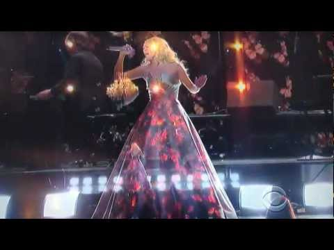 Carrie Underwood magical dress at the 55 Grammy awards