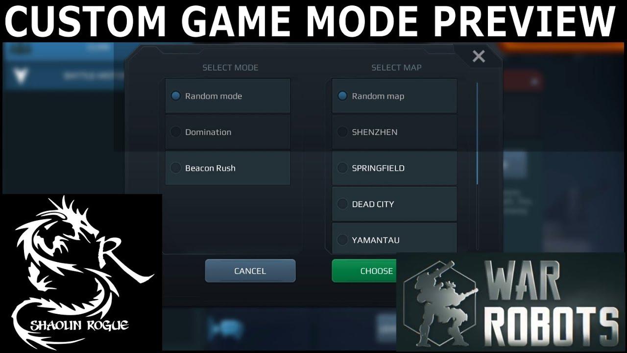 Download War Robots - Custom Match Game Mode Preview -UI Walk Through-Fast & Fun Light & Medium Bot Matches