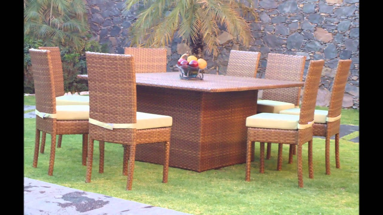 Muebles para terraza y jardin youtube for Mobles de jardi