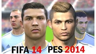 FIFA 14 vs PES 2014 Faces - Real Madrid (Face Comparison)