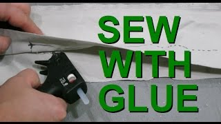 Hot Glue as a substitute for needle and thread (sewing)