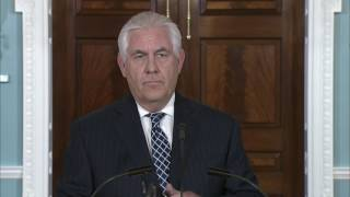 Secretary Rex Tillerson Press Availability at the State Department