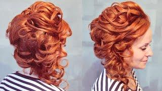 Вечерняя причёска на бок | Авторские причёски | Лена Роговая | Hairstyles by REM | Copyright ©
