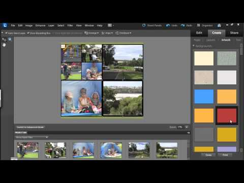Create a Photo Collage in Photoshop Elements