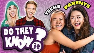 Do Parents Know Their Teen's Favorite YouTube Stars? | React: Do They Know It?