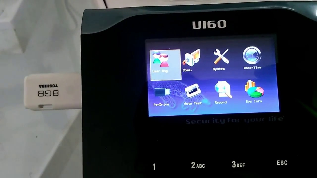 How To download biometric attendance machine data to usb pendrive