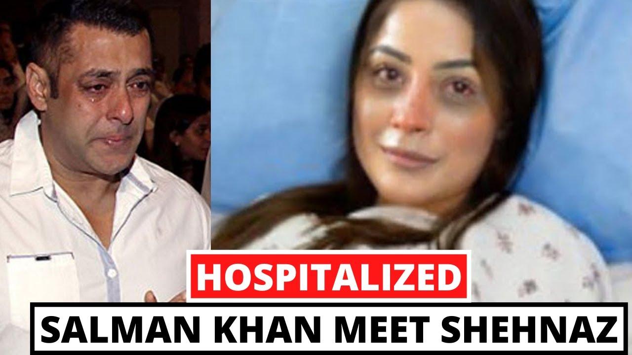 Download Salman Khan Meet Shehnaz Gill In Mumbai Hospital