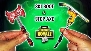 STOP AXE & SKI BOOT | FORTNITE | Polymer Clay Tutorial