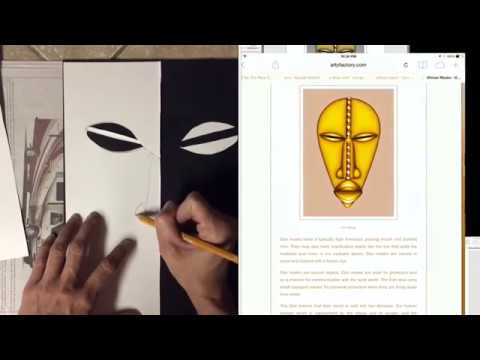 African Mask Collage Art Lesson