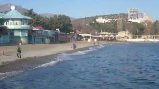 Центральный пляж. Алушта (Крым) 7 декабря 2015