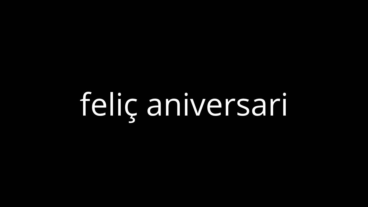 Happy Birthday In Catalan Youtube