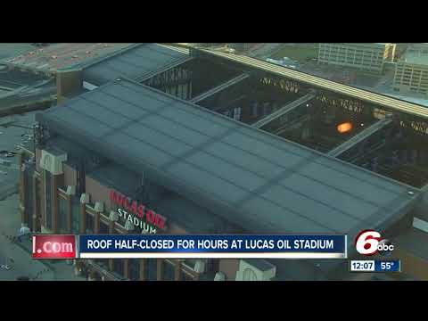 Lucas Oil Stadium roof now closed day after Colts game