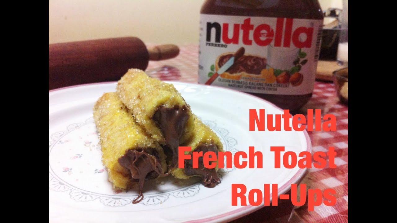 Recipe #1: Nutella French Toast Rollups  Resep Roti Goreng Nutella  #guiltypleasure