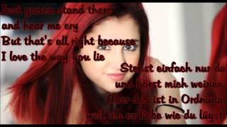 Ariana Grande - Love the way you lie lyrics + übersetung
