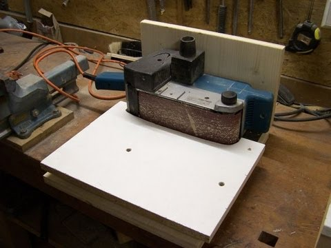 belt sander station - YouTube
