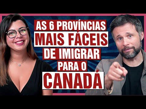 As províncias MAIS FÁCEIS de imigrar para o CANADÁ
