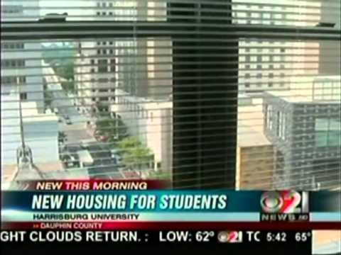 CBS-21 Interviews about Harrisburg University's New Housing for Students