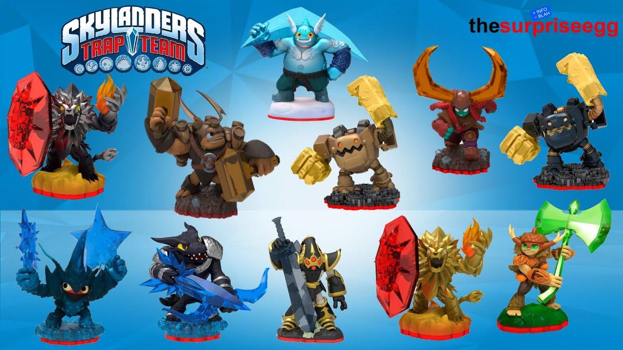 11 Skylanders TRAP TEAM TRAP MASTERS characters Figures ...
