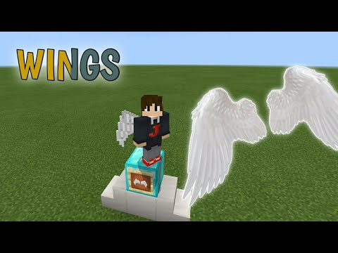 HOW TO HAVE WINGS IN MINECRAFT PE