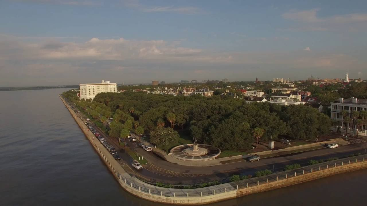 Charleston S.C - In the morning by drone - YouTube