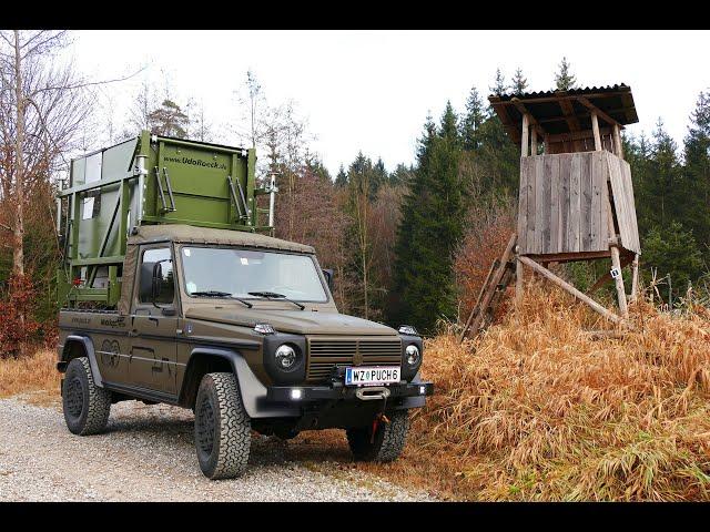 MobiJagd - Die Pickup Kanzel auf dem Puch 230 GE