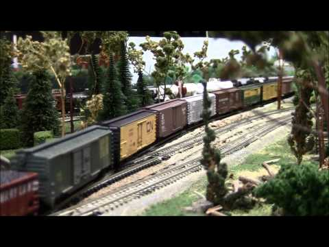 Lehigh Valley & D&H on 3J Rail N Scale Model Railroad