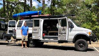 VANLIFE TOUR | Teachers 4x4 Custom Adventure Van and Camping Trailer