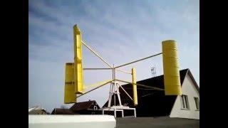 видео Самодельный вертикальный ветряк