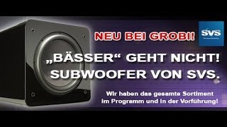SVS Subwoofer  brachialer Bass für jeden Geldbeutel
