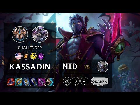 Kassadin Mid vs Diana - NA Challenger Patch 10.13