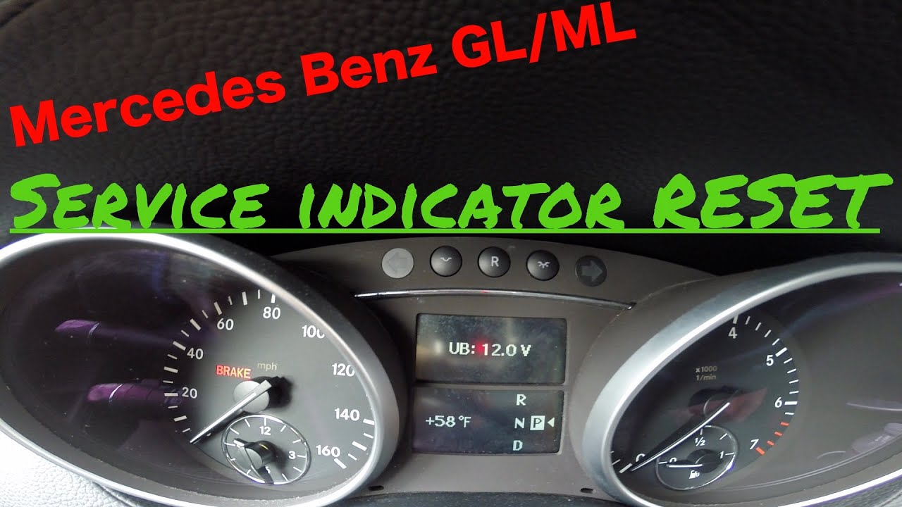 mercedes benz gl ml service indicator reset after oil