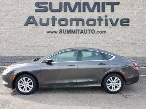 9T306A 2015 CHRYSLER 200 LIMITED FOUR DOOR GRANITE CRYSTAL WALK AROUND REVIEW www.SUMMITAUTO.com