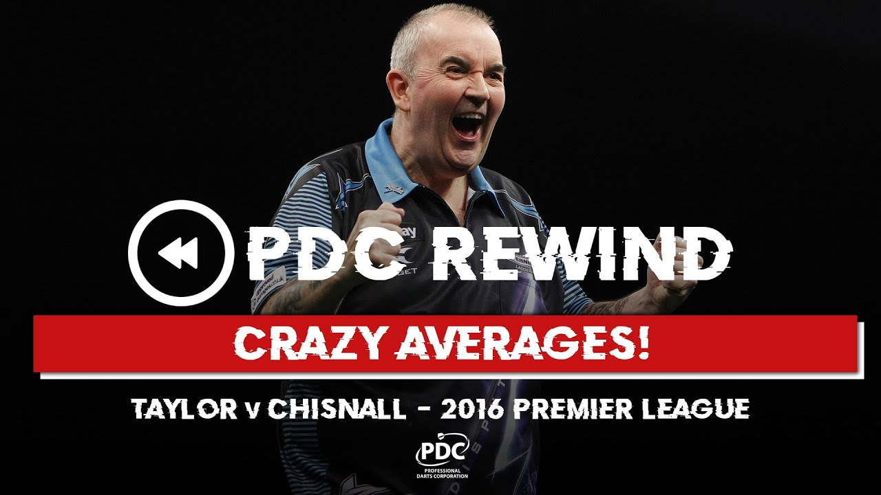 CRAZY AVERAGES! Taylor v Chisnall | 2016 Premier League